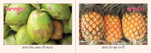 Samples pages from our book: Fruits That I Know