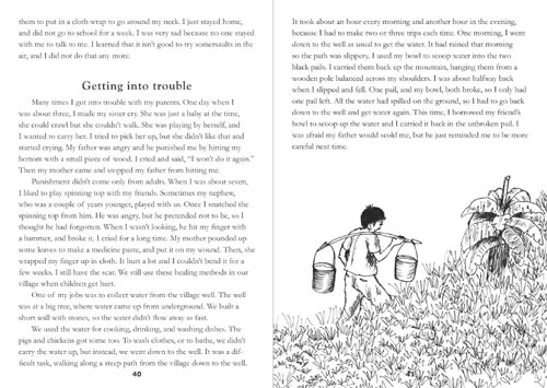 Samples pages from our book: Growing Up on the Mountain