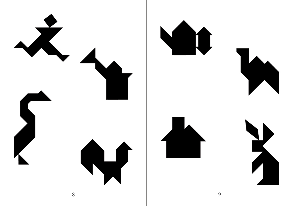 sample pages from Tangrams, published in Laos by Big Brother Mouse