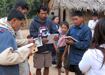 Big Brother Mouse sets up a home-based village library in Laos