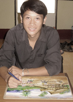 Noy, an art student in Vientiane, is one of our artists.
